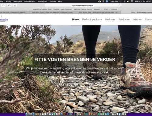 Website Andromedavoetverzorging online