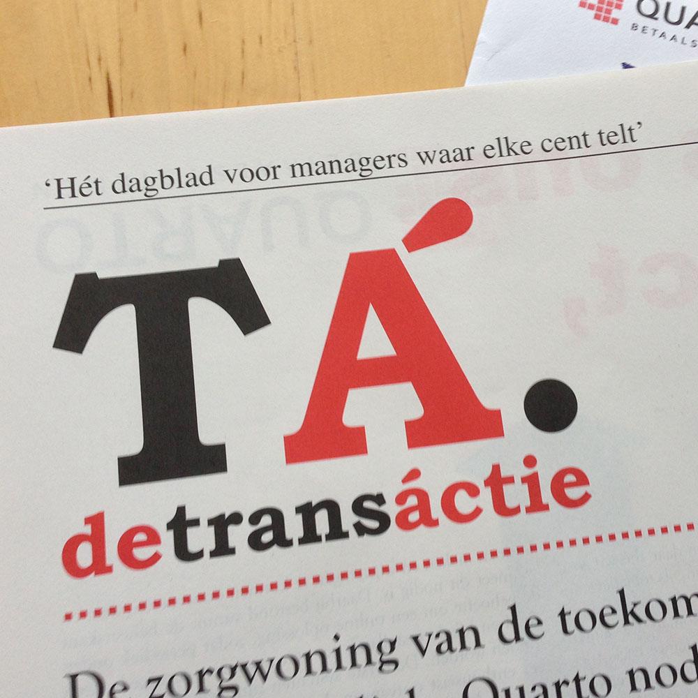 """Direct mail """"De Transáctie"""""""