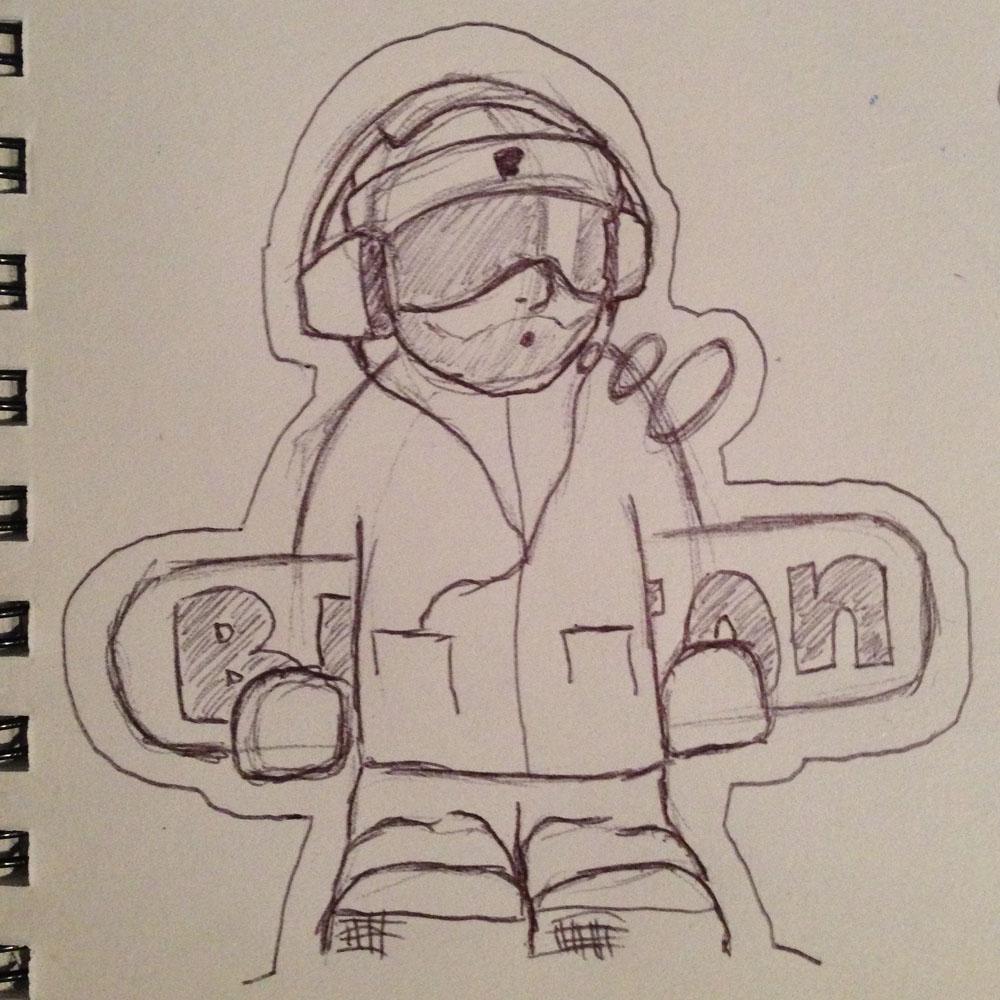 "Sketch ""Boarder"""